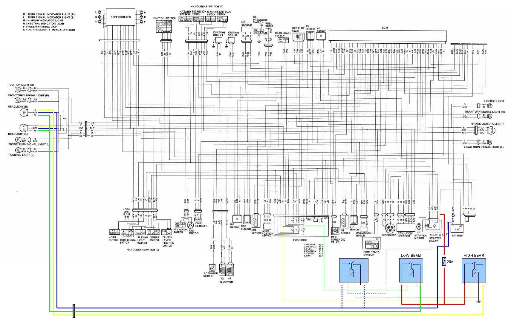 Headlight rewiring with relays | SV PortalSV1000 Portal